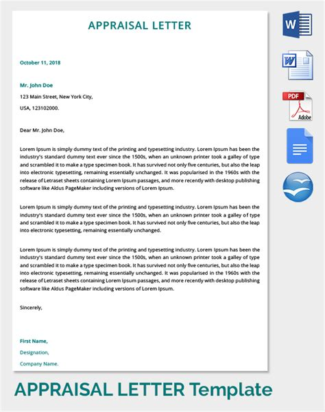 Business Valuation Letter Template 30 appraisal letters free sle exle format free