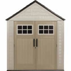rubbermaid 174 1887155 outdoor resin storage shed 7 x 7