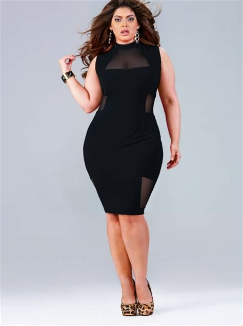 Black Mesh Top Big Size monif c unveils collection of plus size dresses stylish