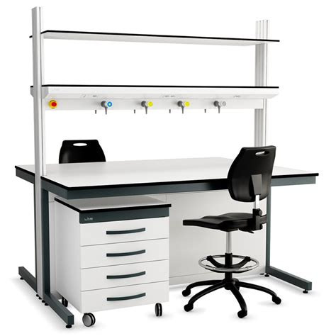 mobile lab bench service spine systems lab interior laboratory furniture