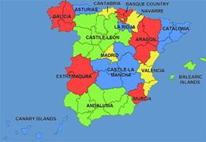 map of spain and regions maps of spain cities provinces communities ven a mi casa