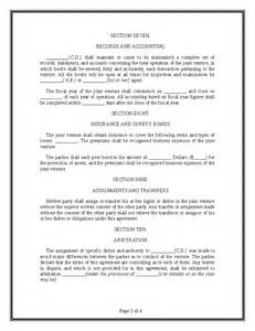 Joint Agreement Letter Joint Venture Agreement Template Hashdoc