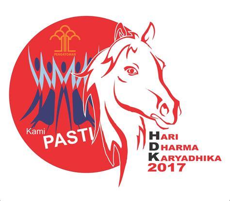 menkumham canangkan simbol kuda  hari dharma karyadhika