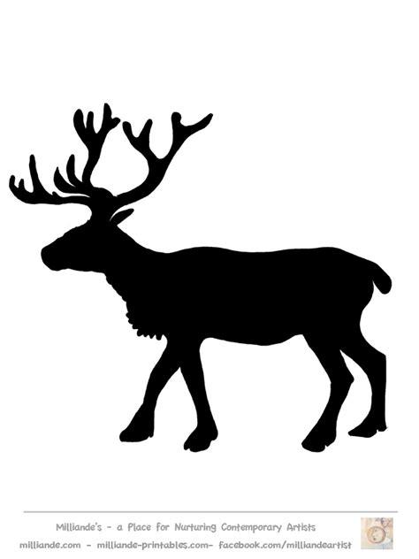 printable reindeer silhouette free reindeer clipart silhouettes for printable reindeer