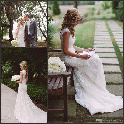Discount Romantic Vintage Lace Wedding Dresses 2017 Summer