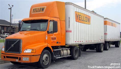volvo com trucks yellow roadway volvo day cab truck trailers