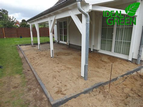 terrasse vordach terrasse vordach bordstein einfassung ideal green