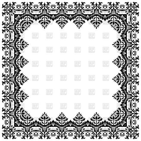 oriental arabesque pattern vector free black oriental frame with arabesque vector image 160775