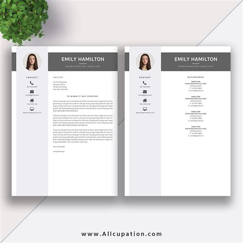 this eye catching editable word this eye catching editable word resume template for instant is more professional