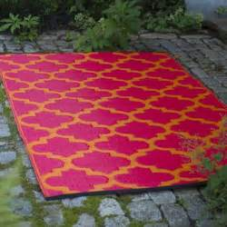 marrakesh outdoor area rug scarlet tangerine