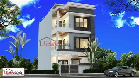 design house 20x50 exciting house front elevation designs for triple floor