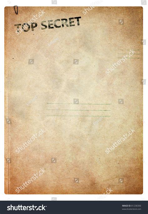 best image top secret folder for papers isolated on white