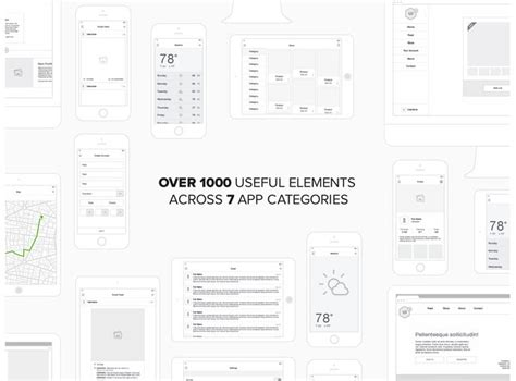 20 Templates For Creating High Fidelity Wireframes Web Graphic Design Bashooka Sketch Templates Wireframes