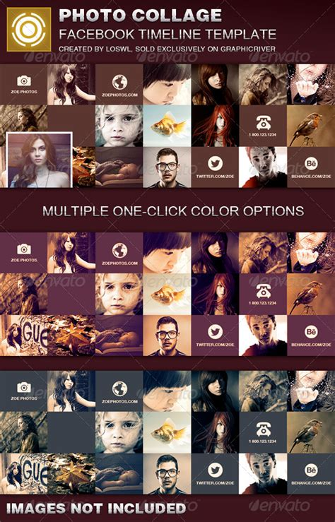 timeline collage template photo collage timeline cover template graphicriver