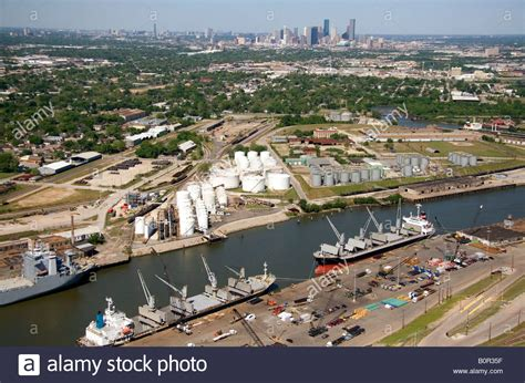 boat shipping texas aerial view of the port of houston along the houston ship