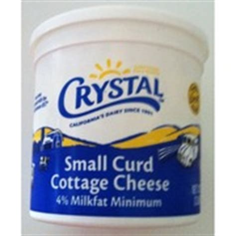 small curd cottage cheese cottage cheese small curd 4 milkfat min