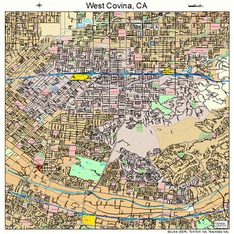 covina california map west covina california map 0684200