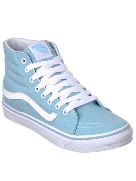 light blue vans high tops vans blue true white sk8 hi slim womens hi top