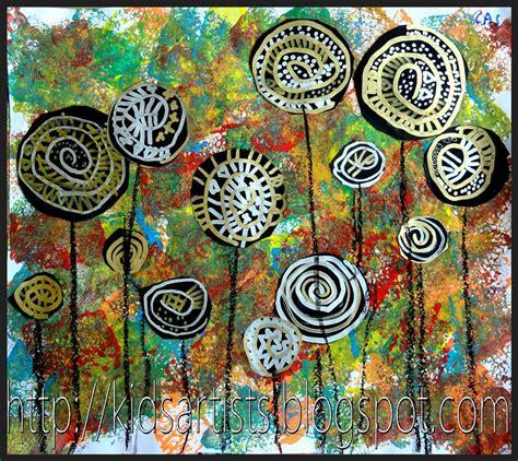 pattern art famous kids artists lollipop trees in the style of hundertwasser