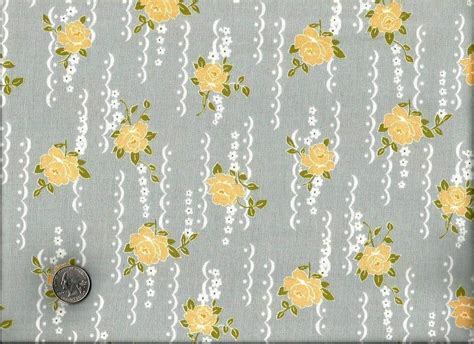 shabby chic barkclothfabric by the cotton quilt fabric nine dots fabric shabby chic gray floral auntie chris quilt fabric