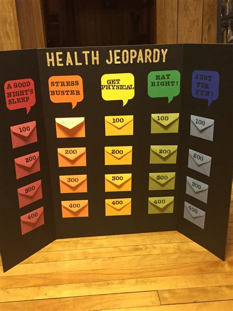printable health board games health jeopardy board game diy pinterest board