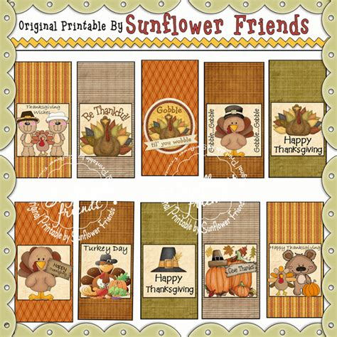 turkey lollipop printable special nurse 12 piece printable pac sunflower friends