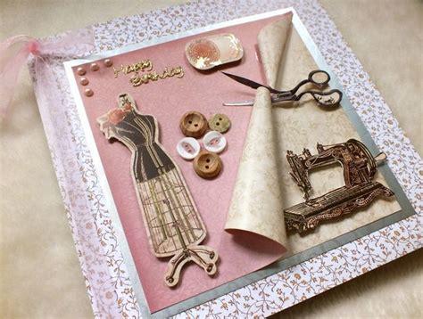 Luxury Handmade Sewing Theme  Ee  Birthday Ee   Card Folksy