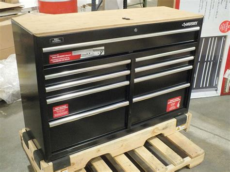Husky 52 In 11 Drawer Mobile Workbench With Solid Wood by Husky 52in 9 Drawer Mobile Workbench With Solid Wood Top