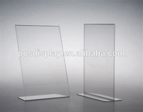 Display Acrylic A4 Horizontal acrylic display t a4 a6 vertical paper sign holder buy high quality acrylic customized