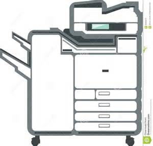 copier and printer machine large office printer copier stock vector image 62565570