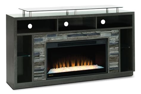 arlington 71 quot tv stand with glass ember firebox