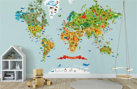 mapamundi decoracion mural mapamundi para habitaciones infantiles guardiana blog