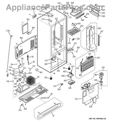 ge refrigerator maker parts diagram ge wr08x10061 relay appliancepartspros