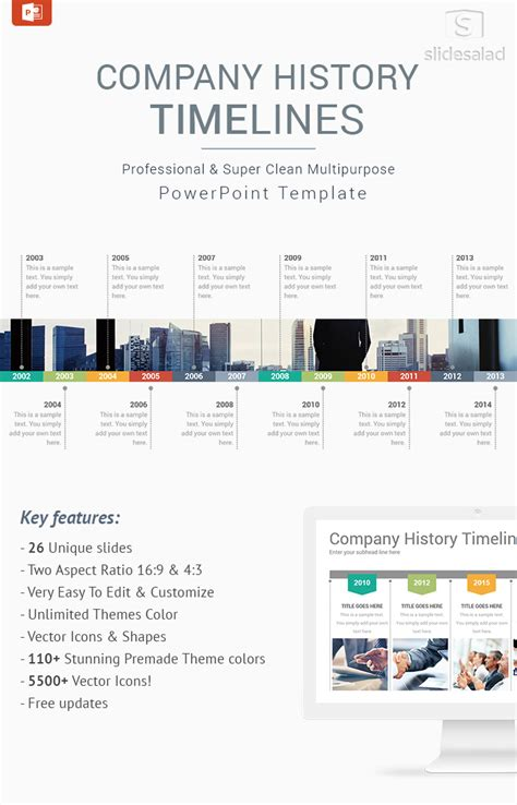 company history template company history timelines diagrams powerpoint presentation