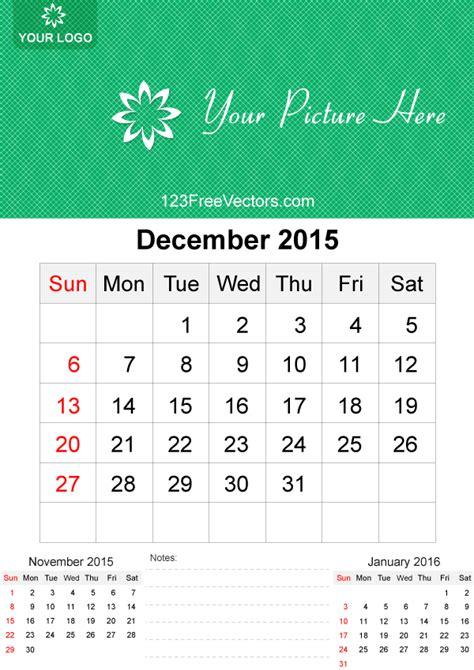 calendar layout december 2015 december 2015 calendar template vector free by