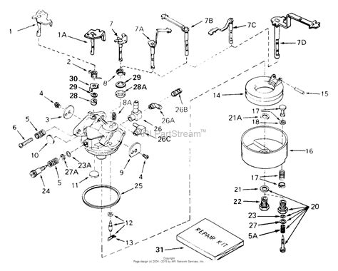 small engine carburetor diagram tecumseh ca 631774 parts diagram for carburetor