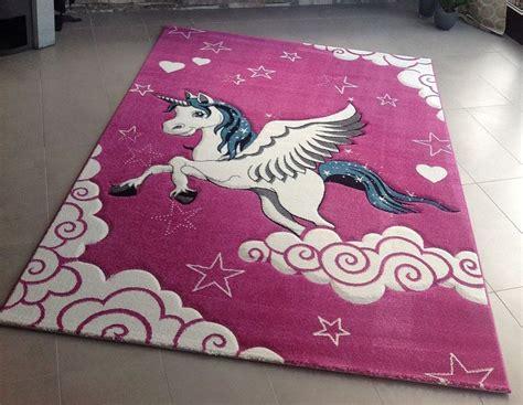 unicorn rug children playroom rug carpet unicorn sweet soft quality new ebay