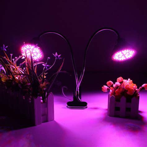 clip on grow light 30w clip on hydroponics plant led dual grow light