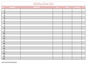 guest list template word 7 guest list templates word excel pdf templates