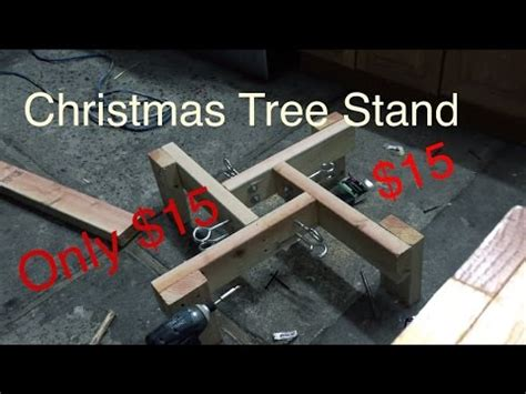 how to make your own christmas tree stand how to build tree stand for cheap 15
