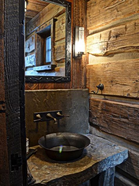 Rustic Cabin Bathrooms by Best 25 Cabin Bathrooms Ideas On Small Cabin