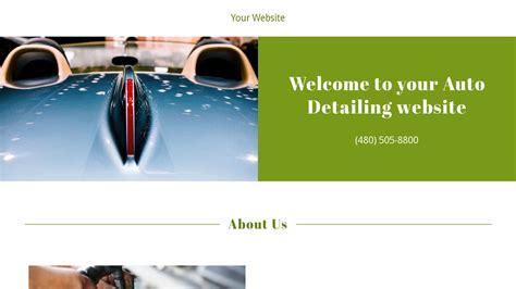 Auto Detailing Website Templates Godaddy Auto Detailing Website Templates