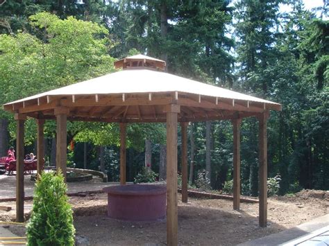 pit gazebo plans best 25 pit gazebo ideas on