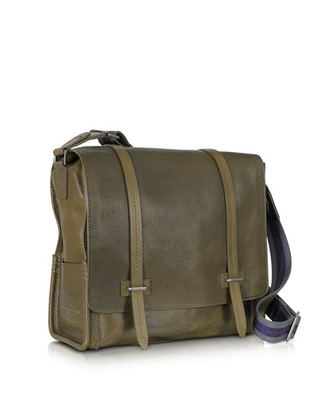 Filma Signature Olive Pouch 2 L the bridge ascott large olive green leather messenger bag in green for lyst