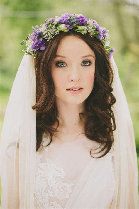 Wedding Hairstyles Veil And Flower by 25 Best Ideas About Flower Crown Veil On