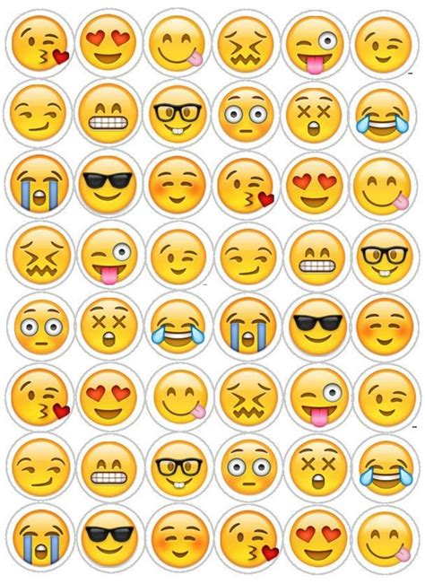emoji recognition chart cupcake toppers http www thecakedecoratingcompany co
