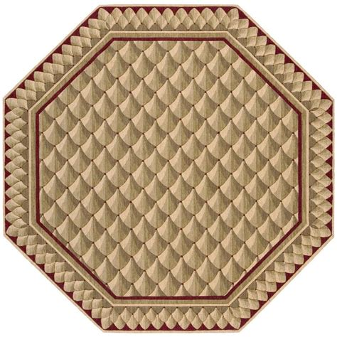 octagonal area rugs nourison vallencierre camel 5 ft 6 in octagon area rug 376541 the home depot