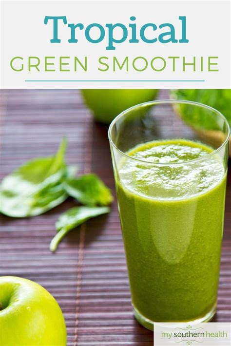 Tropical Green Detox Smoothie Recipe by 516 Best Healthy Beverage Recipes Images On