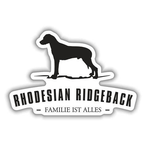 Silhouette Aufkleber Folie by Aufkleber Rhodesian Ridgeback Silhouette