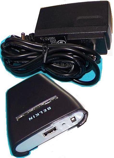 Bluetooth Usb Printer Adapter belkin bluetooth wireless usb printer adapter f8t031 nr ebay